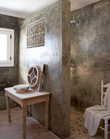 acabados en paredes interiores para baños