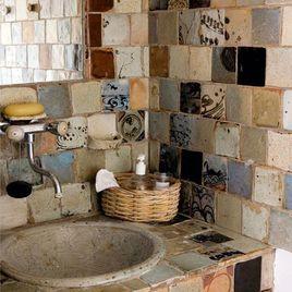 azulejos para baños rusticos para casa de campo