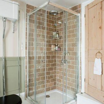 ceramicas rusticas para baños pequeños