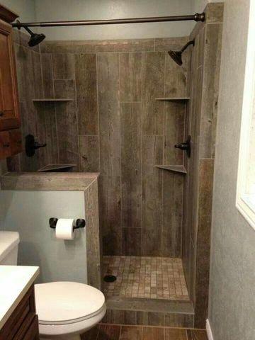ceramicas rusticas para baños que simulan madera