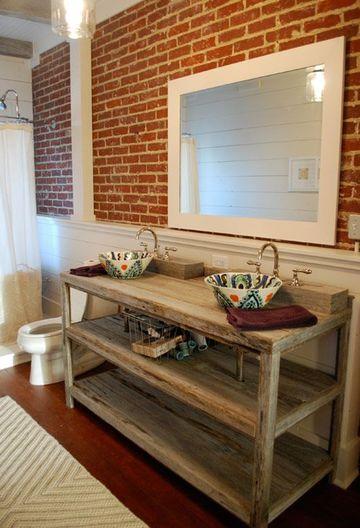 ceramicas rusticas para baños tipo ladrillos