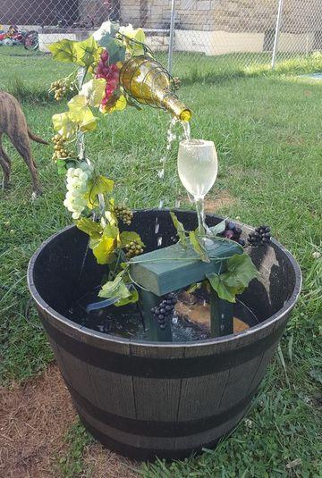 como hacer una fuente de jardin decorativa