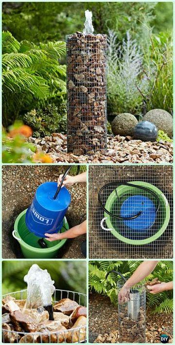 como hacer una fuente de jardin facilmente
