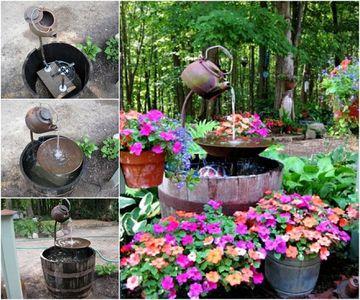 como hacer una fuente de jardin ideal