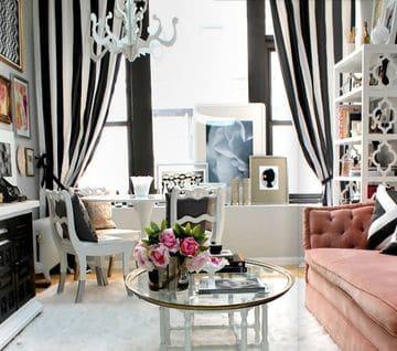 cortinas de salon modernas a rayas
