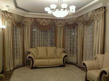 cortinas para ventanas de sala clasica