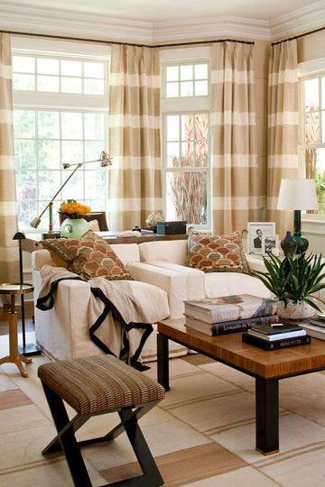 cortinas para ventanas de sala grande