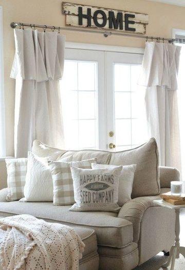 cortinas para ventanas de sala moderna