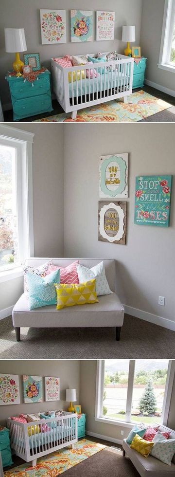 cuadros de habitacion para bebe colores pasteles