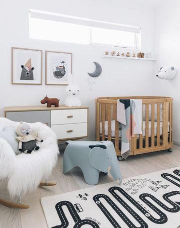 cuadros de habitacion para bebe en blanco