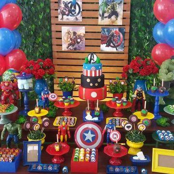 Original Y Divertida Decoracion De Avengers Para Fiesta