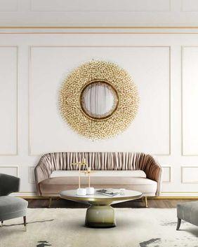 decoracion de espejos para sala clasica