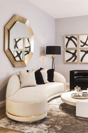 decoracion de espejos para sala elegante