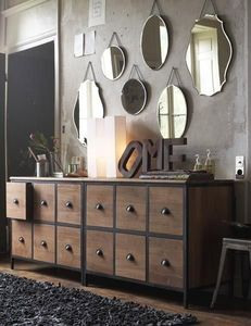 decoracion de espejos para sala rustica