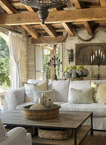 decoracion de salas rusticas con madera