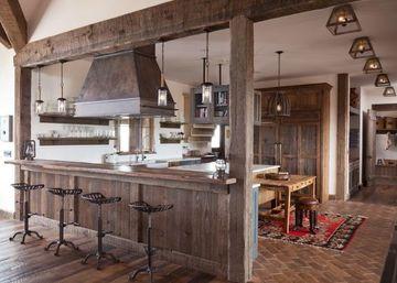 decoraciones rusticas para el hogar en area de cocina