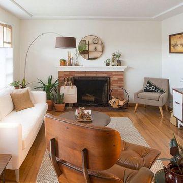 diseños de muebles de sala medio siglo