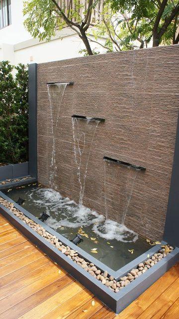 fuentes de pared para jardin elegante