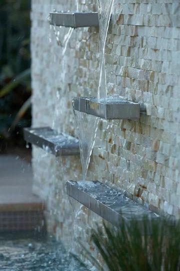 fuentes de pared para jardin