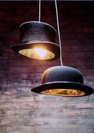 lamparas originales de techo con sombreros