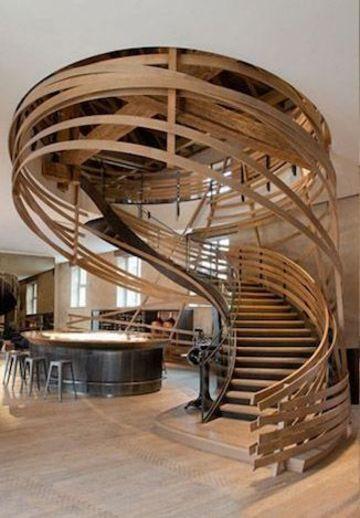 modelos de escaleras de caracol modernas