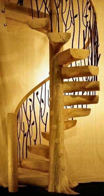 modelos de escaleras de caracol rusticas