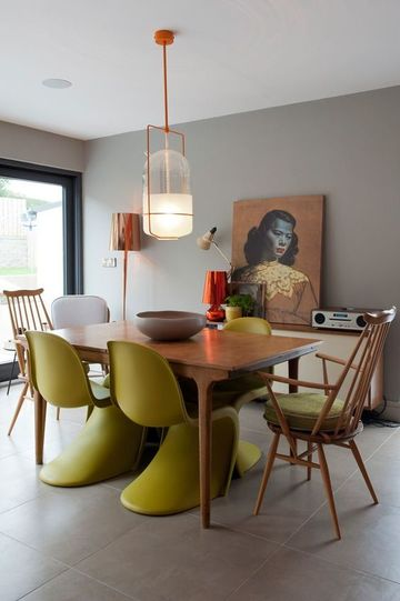 muebles para comedor modernos de acrilico y madera