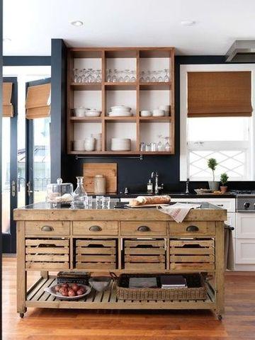muebles rusticos para cocina de madera