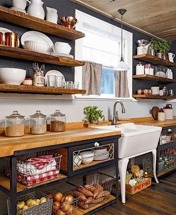 muebles rusticos para cocina economicos