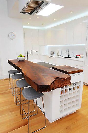 muebles rusticos para cocina minimalista
