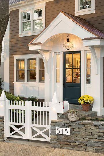 piedras para frentes de casa con madera