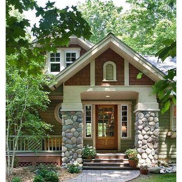 piedras para frentes de casa en columnas