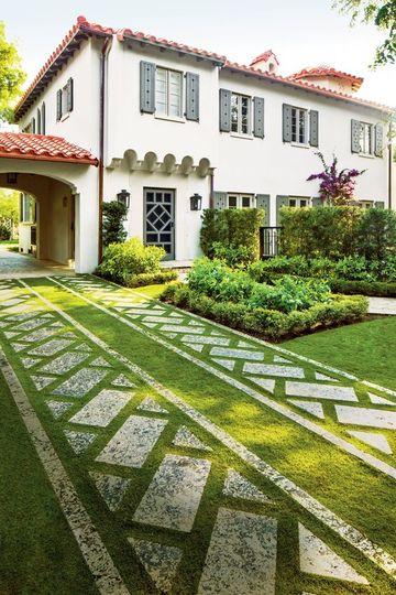 pisos para patios y jardines con grama