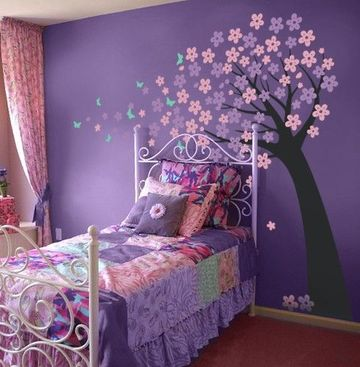 vinilos para habitaciones de niñas en colores pasteles