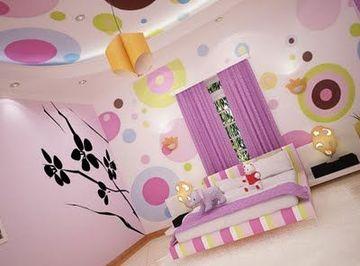 vinilos para habitaciones de niñas paredes y techo