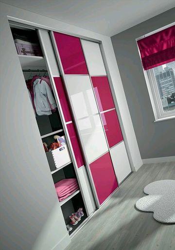 armarios modernos para dormitorios en dos tonos