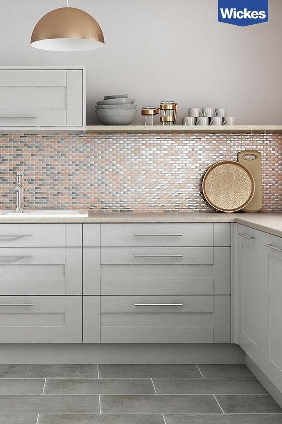 azulejos de cocina modernos de dos tonos