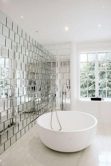baldosas para baños modernos tipo espejo