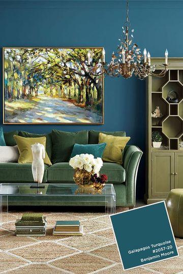colores para pintar mi sala en turquesa