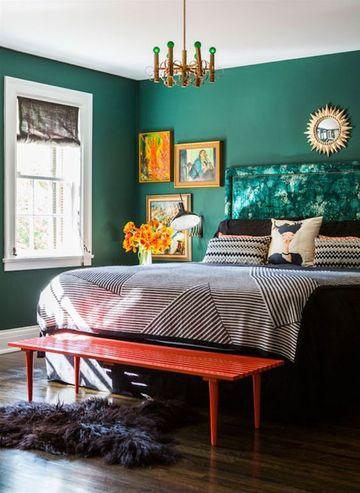 colores verdes para habitaciones clasicas