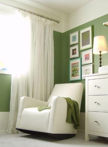 colores verdes para habitaciones con blanco