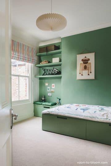 colores verdes para habitaciones de niños