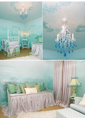 como decorar una habitacion infantil de sirena