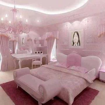 como decorar una habitacion infantil en rosa