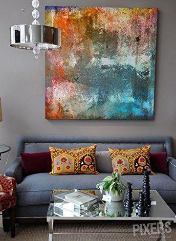 cuadros para salas pequeñas abstractos