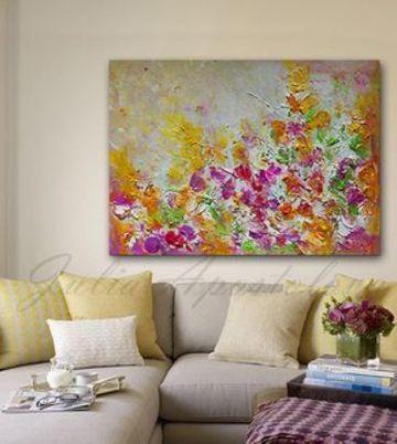 cuadros para salas pequeñas de colores vivos