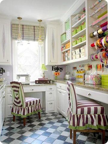 Ideas para organizar y decorar cuartos de costura pequeños