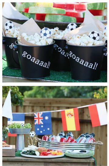 cumpleaños de futbol para niños mundial