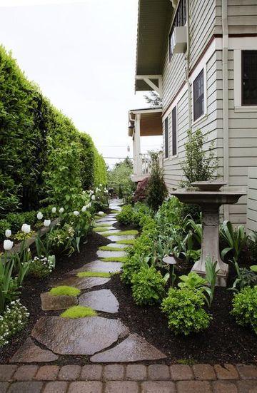 decoracion de jardines con plantas y caminerias
