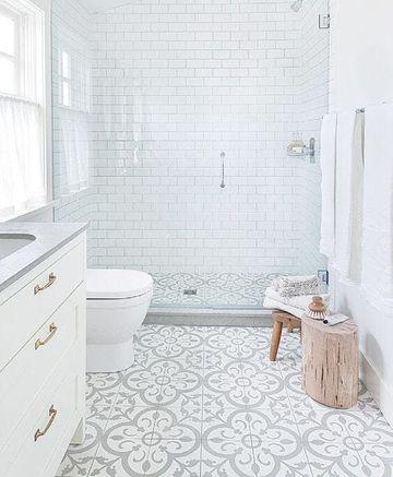 enchapes para baños modernos en blanco